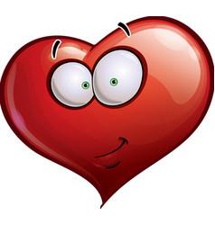 Heart Faces Happy Emoticons Smirk vector image