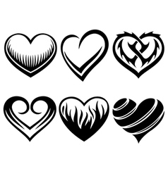Hearts tattoos vector