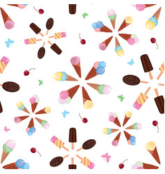ice cream color bursts seamless pattern vector image
