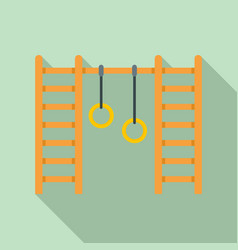kid amusement rings icon flat style vector image