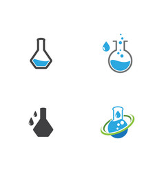 lab icon template vector image