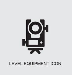 Level equipment icon vector