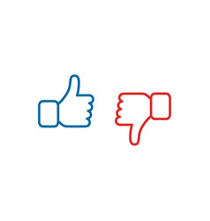Like and dislike symbol vector