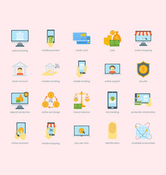 Money finanse banking safety icons business vector
