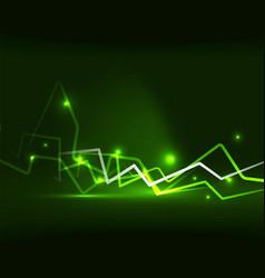 neon lightning background vector image vector image