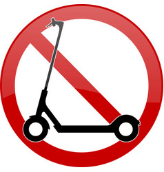 no electric scooters in this area sign vector image