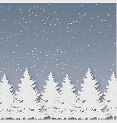 paper art christmas winter season and christmas vector image