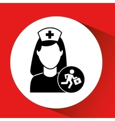 paramedic first aid hospital building icon vector image