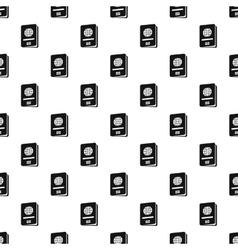 Passport pattern simple style vector image