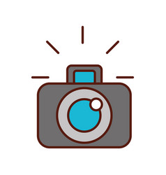 photographic camera device lens flash graphic vector image