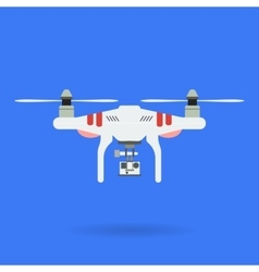 Quadrocopter and Camera vector image