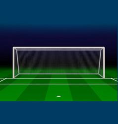 realistic football goal vector image