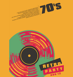 retro music party conceptual poster design vector image