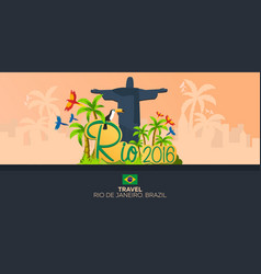 rio 2016 games travel in brasil south america vector image