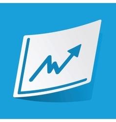 Rising graphic sticker vector