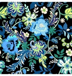 Seamless floral background Colorful isolated vector image