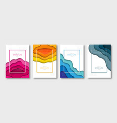 set brochure templates a4 size vector image