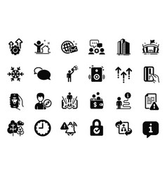 Set business icons related to edit vector