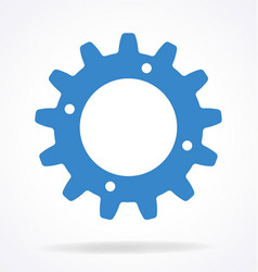 single gear sprocket cog element vector image