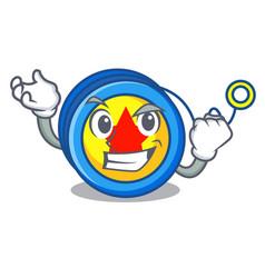 Successful yoyo character cartoon style vector