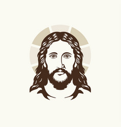 The face of jesus christ vector
