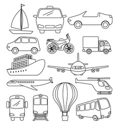 transport logistic set vehicles vector image