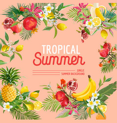 Tropical design with exotic fruits summer vector