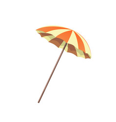 Umbrella orange and white vector