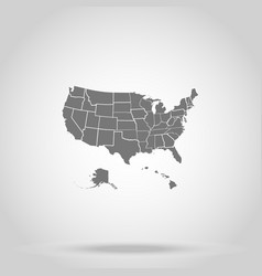 us states america vector image