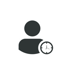 user icon simple sign vector image
