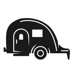 Vacation trailer icon simple style vector