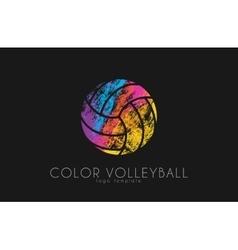 Volleyball logo volleyball ball logo design vector