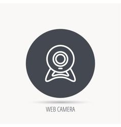 Web cam icon Video camera sign vector