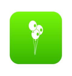 wedding balloons icon digital green vector image