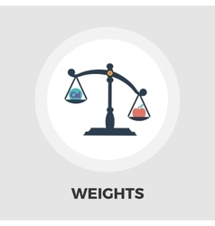 Weights icon flat vector