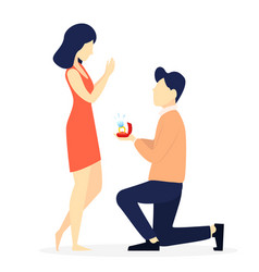 young man making marriage proposal vector image