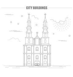 City buildings graphic template Belarus vector image