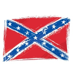 Grunge confederate flag vector