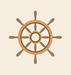 helm icon flat design vector image