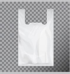 white disposable t-shirt plastic bag package vector image vector image