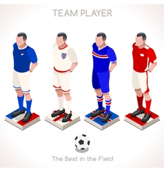 Football 03 People Isometric vector image vector image