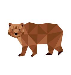 polygonal bear vector image