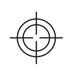 sight target optical strategy design vector image