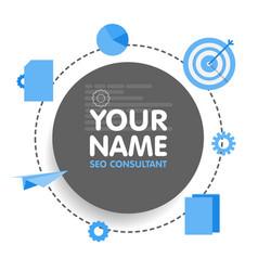 social network seo optimization consultant avatar vector image