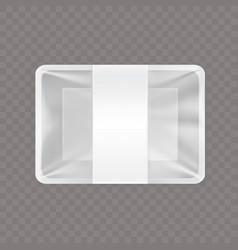 an empty plastic food vector image