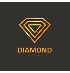 Diamond logotype golden jewel logo concept vector image vector image