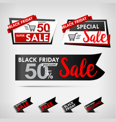 collection of black friday web tag banner vector image