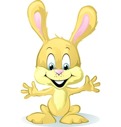 cute baby bunny cartoon vector image