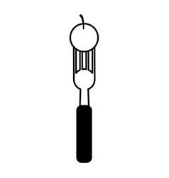 fork with food icon image vector image vector image
