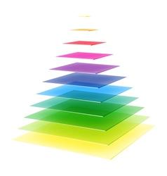 Layered rainbow pyramid vector image vector image